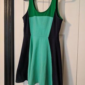 Express color block tank dress